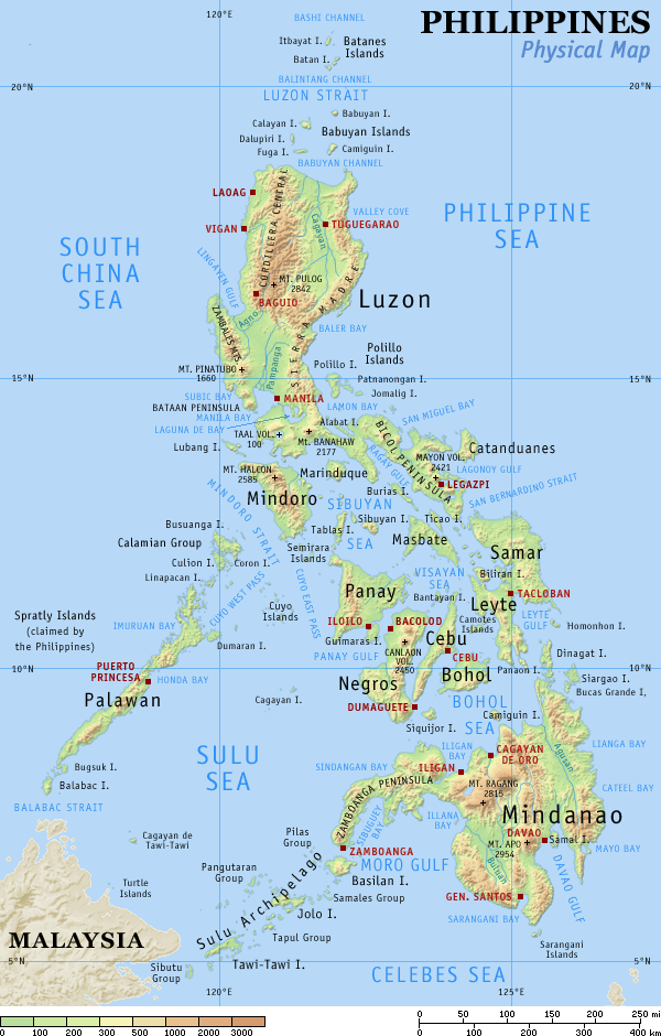 Detailed map of the Philippines (click to enlarge):
